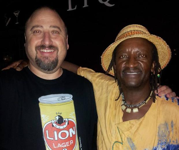 Leon Lazarus with Baba Vusi Shibambo
