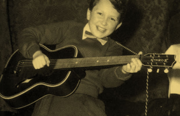A young Jimmy Page